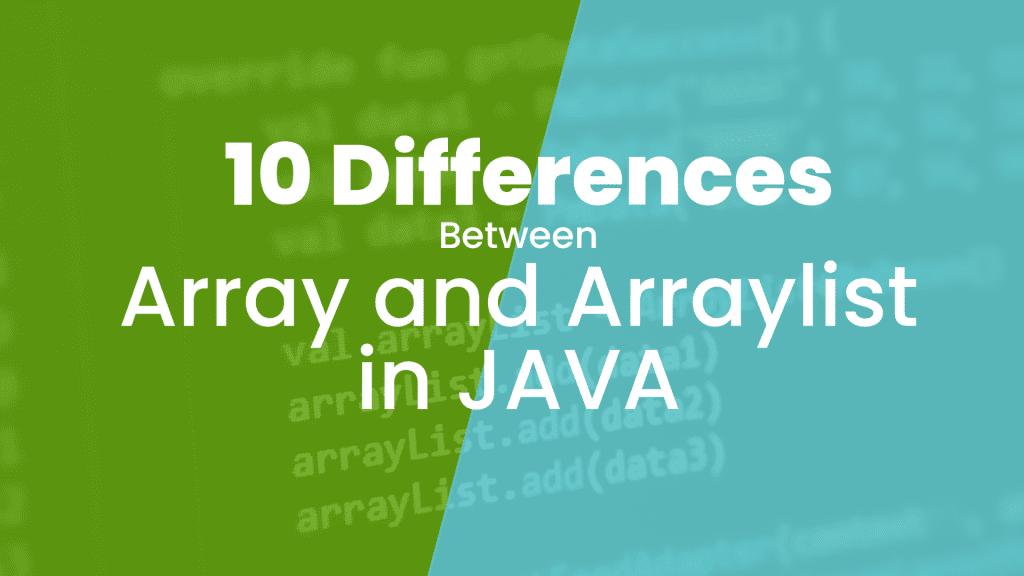 java array vs arraylist